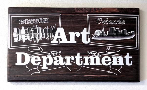 Art Department SIgn