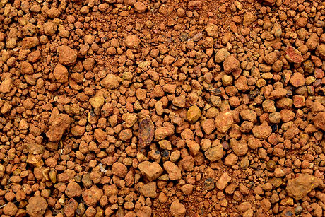 Laterite soil textured background and is
