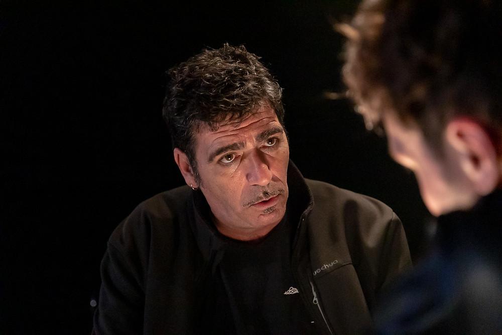 Bobo Rondelli durante l'intervista all'Auditorium Flog di Firenze