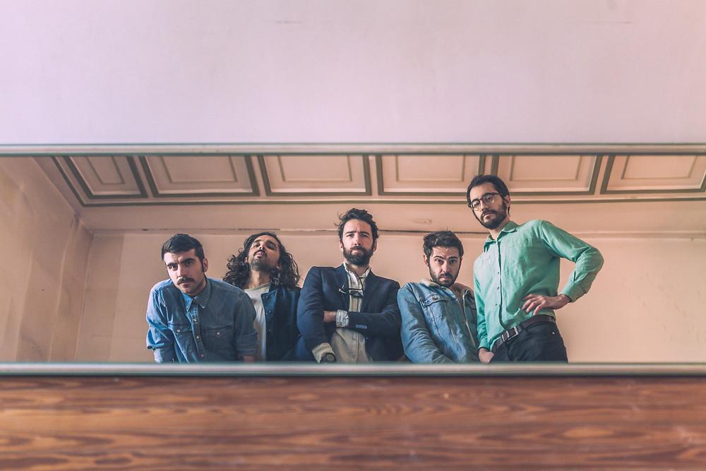 Una fotografia della band