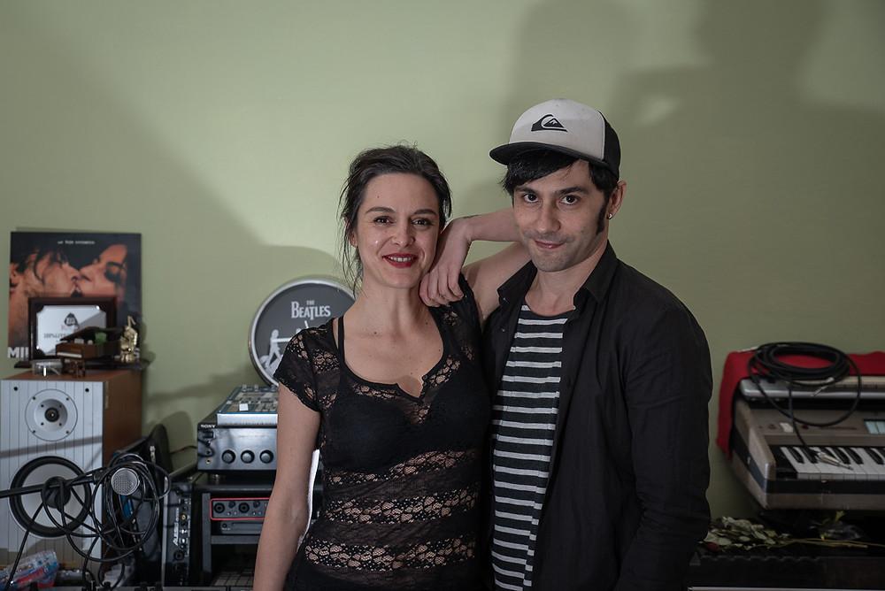 Ilaria D'Angelis e Enzo Moretto, fondatrici della band A Toys Orchestra