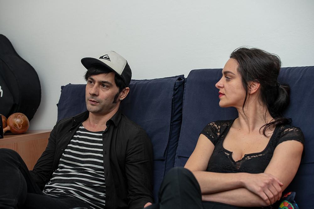 Ilaria D'Angelis e Enzo Moretto durante l'intervista