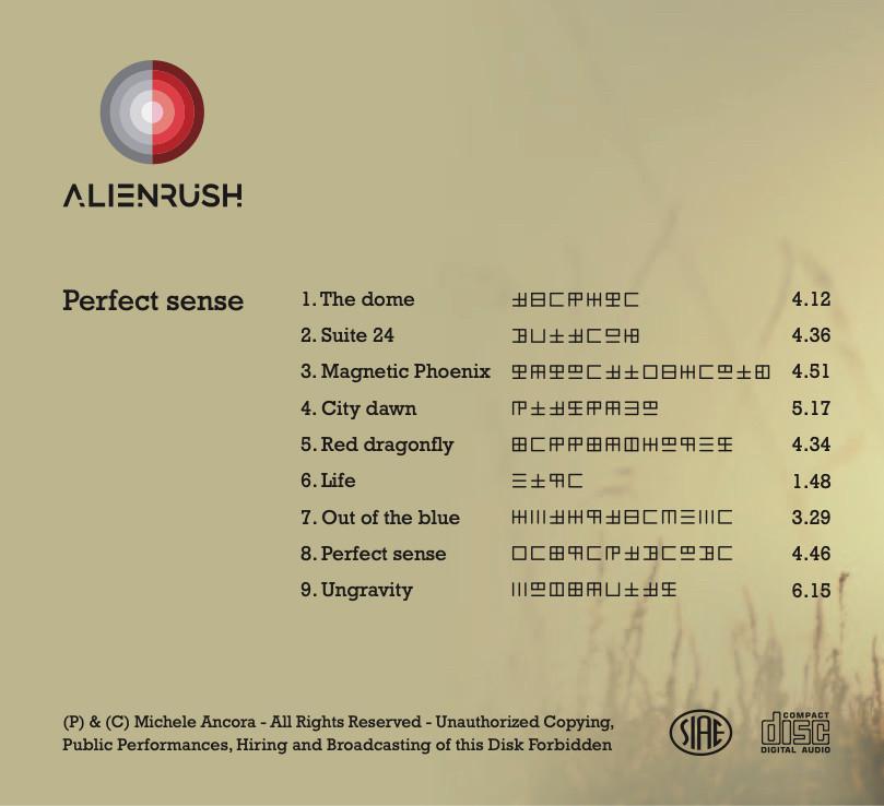 Il retro dell'album Perfect Sense
