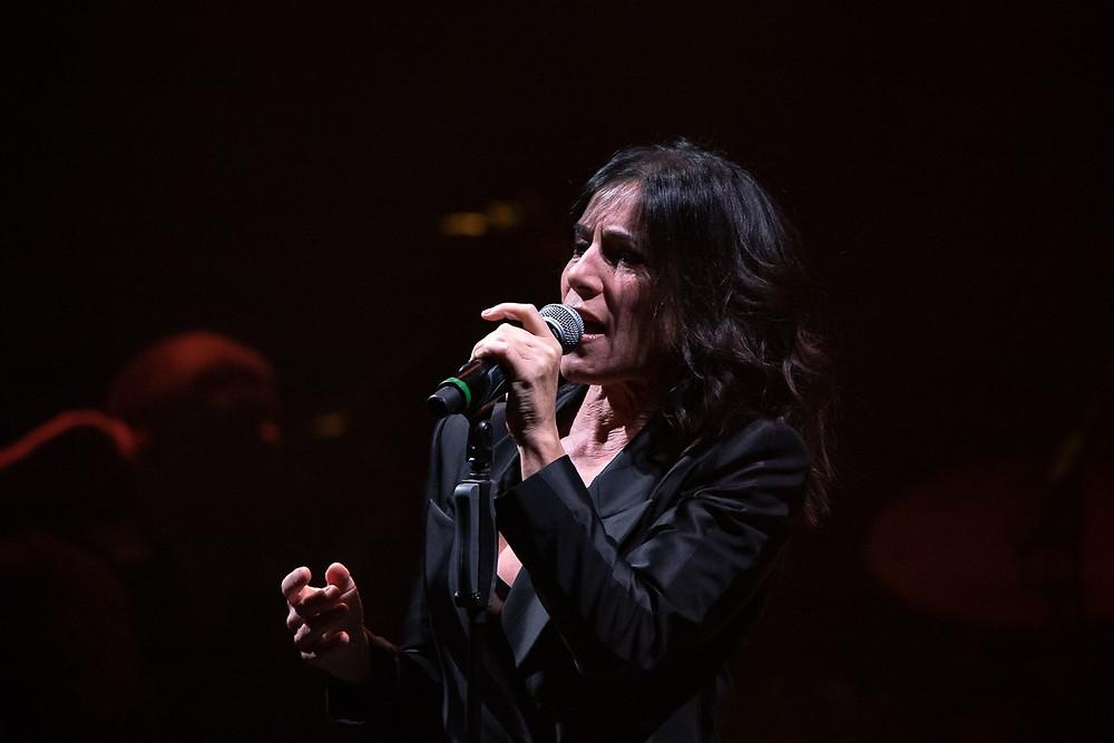 Paola Turci durante la sua esibizione di ieri sera