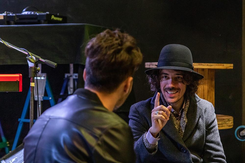 """Il """"Maestro"""" Pellegrini durante l'intervista all'H2NO a Pistoia"""