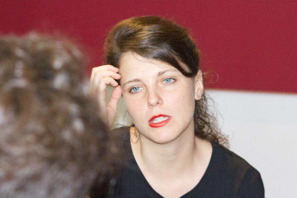 Marta Ascari, in arte La Tarma, durante l'intervista