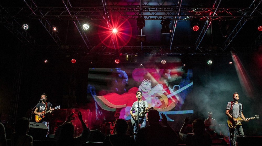 Edoardo Bennato in concerto con la band a Pistoia - Numeri primi festival