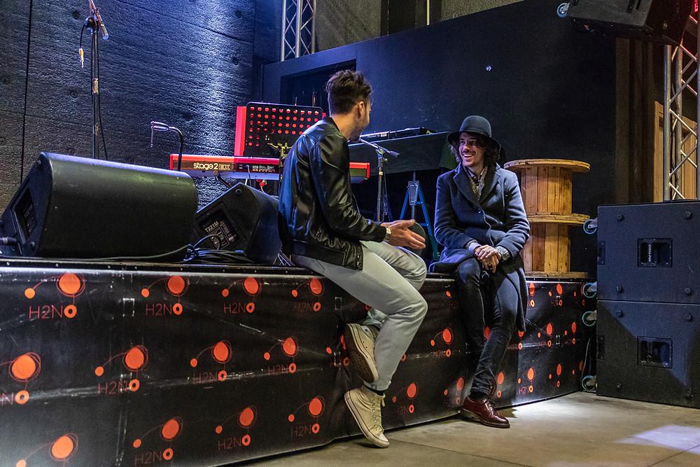 """Una fotografia dell'intervista al """"Maestro"""" Pellegrini"""