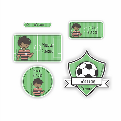 Adesivo Futebol Rubro Negro - Kit 01