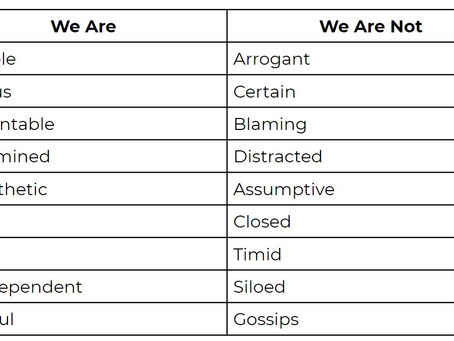Who We Are and Who We're Not