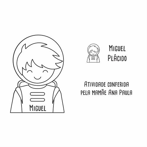 Kit de Carimbos - astronauta
