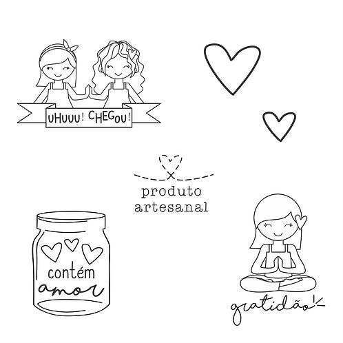 Kit de Carimbos embalagem - amor