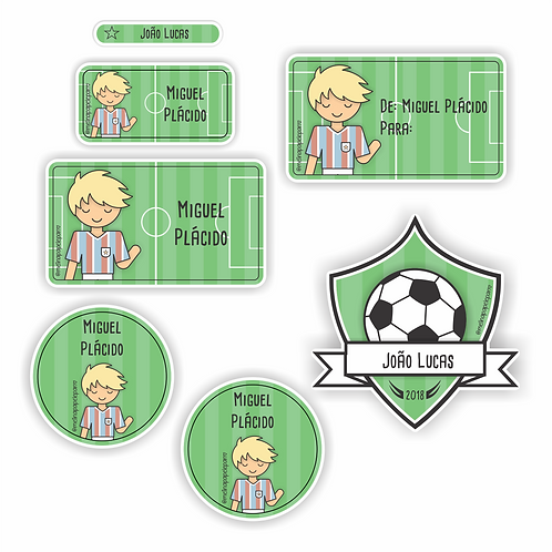 Adesivo Futebol Tricolor - Kit 03