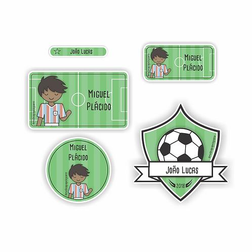 Adesivo Futebol Tricolor - Kit 01