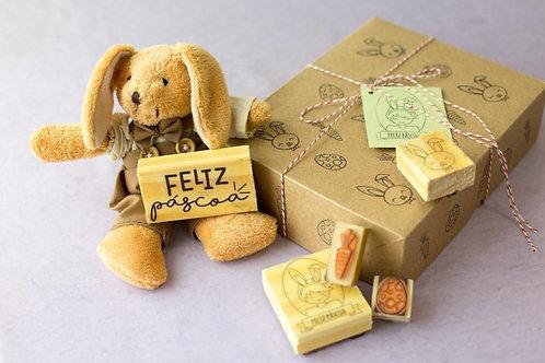 Kit de Carimbos Páscoa - menino -personalizado
