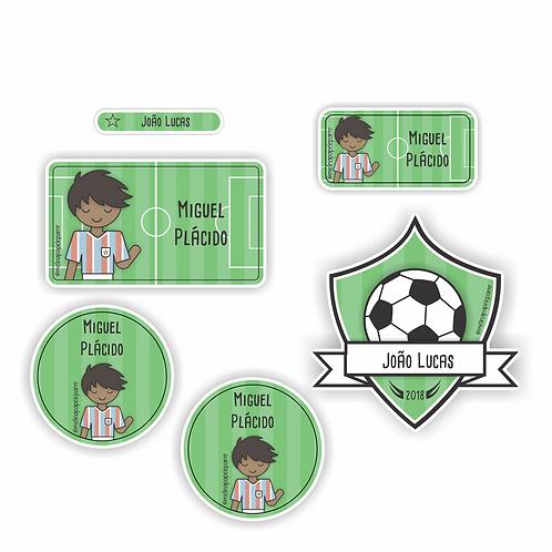 Adesivo Futebol Tricolor - Kit 02