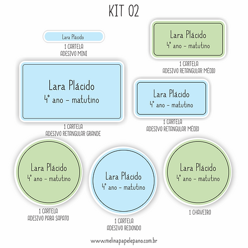Kit 02 - Cores