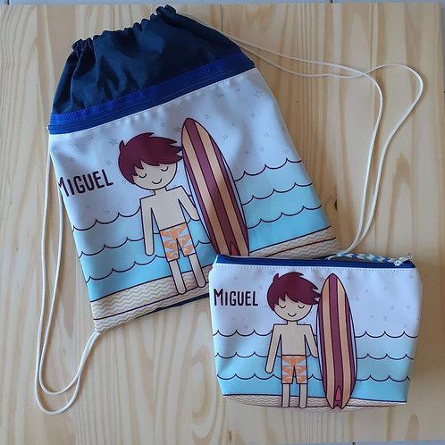 Kit praia Surf com mochila