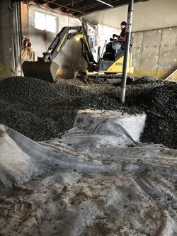 Fourniture et mise en place de pierre pour retrait de pyrite