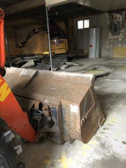 Enlèvement de béton pour retrait de pyrite
