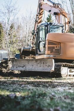 Excavation pour nouvelle maison