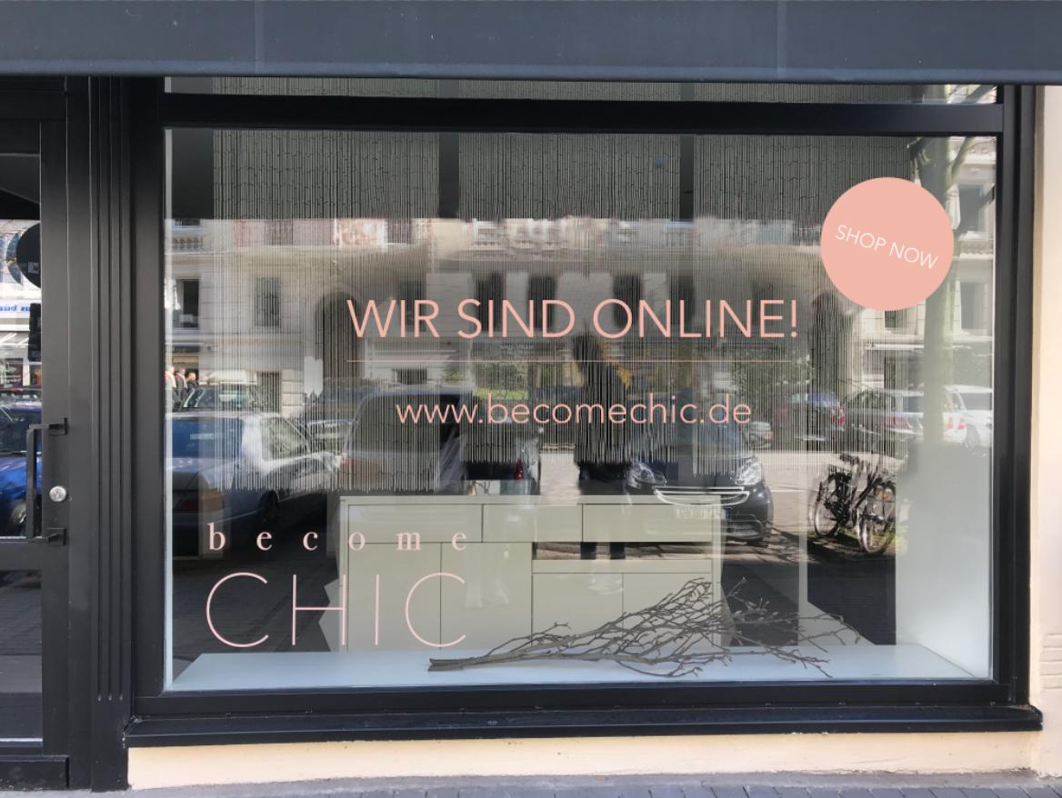 Online-Shop-Schaufensterbeklebung