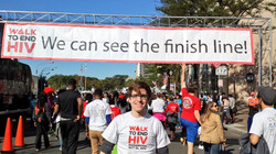 2014 Walk to End HIV finish line