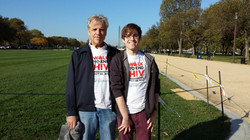 Me and my dad: Walk To End HIV 2014