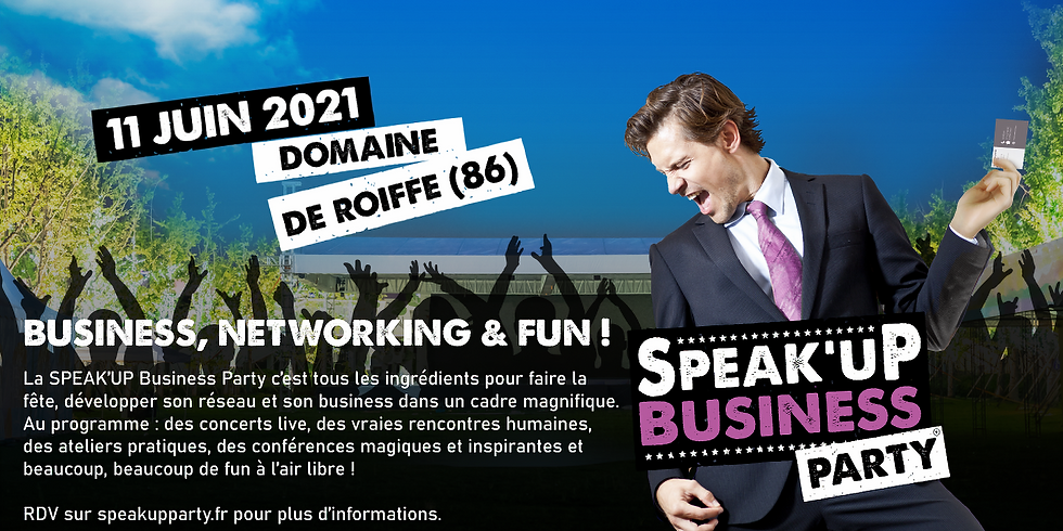 Evénement ! SPEAK'UP BUSINESS PARTY