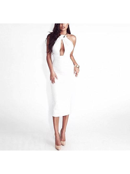 Vestido Courche blanco con collar