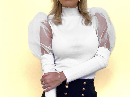 Sweater blanco Pom