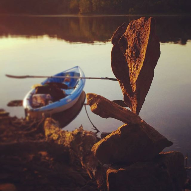 _3 love kayaking and it rocks to find cool rocks__#rockbalance #rockstack #balancing #rockbalancing
