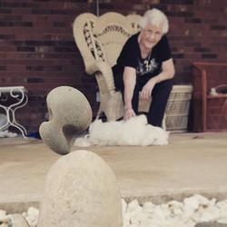Showin grandma a rock trick _)