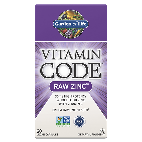 Vitamin Code RAW Zinc by Garden of Life