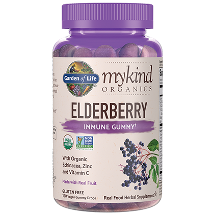 mykind Organics Elderberry Gummies by Garden of Life