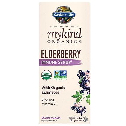 mykind Organics Elderberry Syrup by Garden of Life