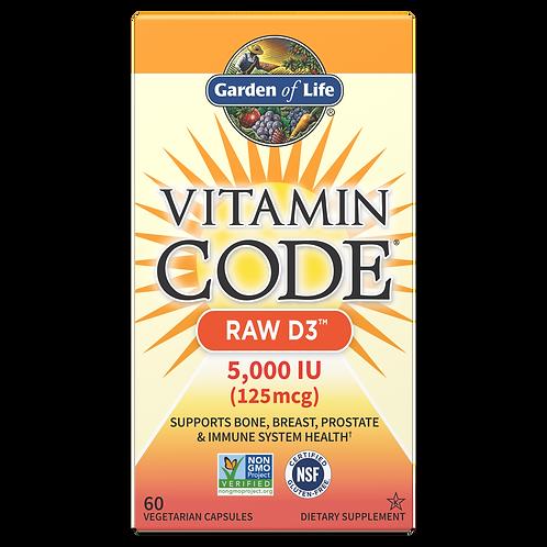 Vitamin Code Raw Vitamin D3 (5000iu) by Garden of Life