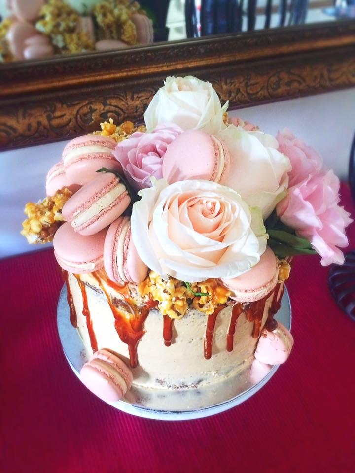 caramel gluten free drip cake
