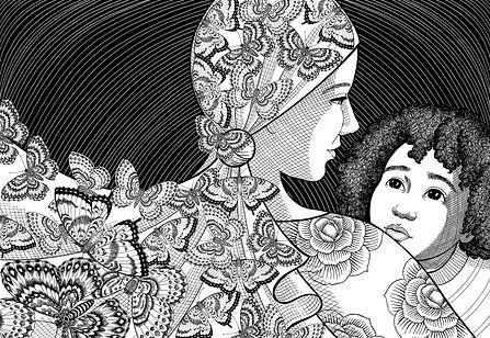 Livro da Belise Mofeoli publicado pela Paulus Editora e ilustrado pela Veruschka Guerra com a técnica do nanquim.