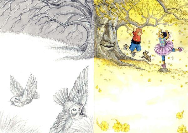 Amarelo, livro da Elaine Pasquali Cavion publicado pela Paulus Editora com ilustrações de Veruschka Guerra