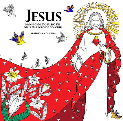 Livro de colorir sobre o Sermão da Montanha publicado pela editora Santuário no Brasil, Pauline Books and Media Publishing nos Estados Unidos e Catholic Publishing House na Coréia do Sul, ilustrado por Veruschka Guerra