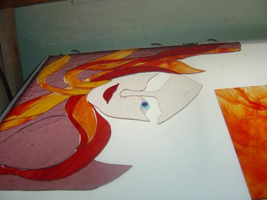 Face amnd flames