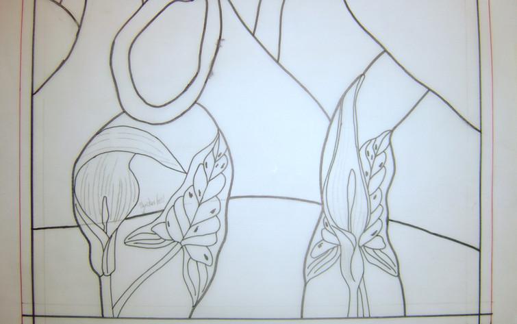 Detail of Arum lilies
