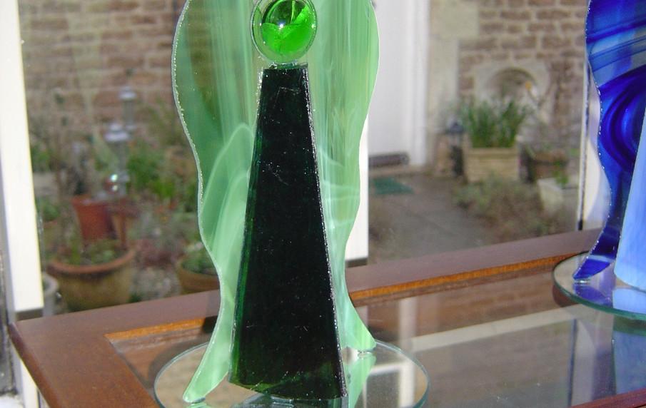 """8"""" 3D standing Angel: Greens"""