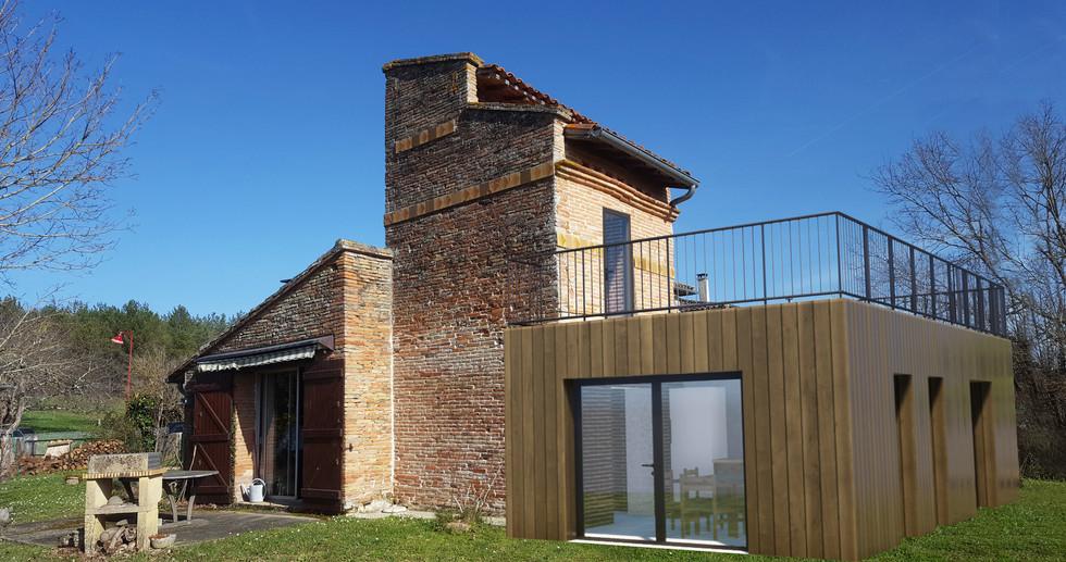 Rénovation et extension d'une maison à Vaïssac  - Détails Architecture