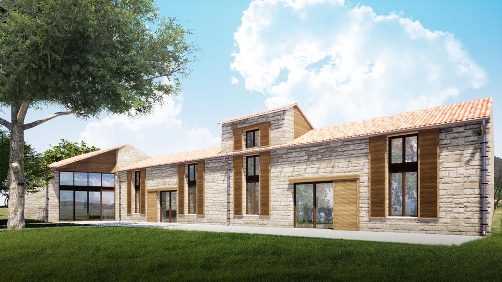 Transformation d'une ferme en maison d'hôtes - Détails Architecture