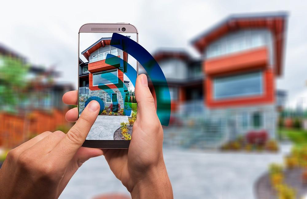 Smartphone steuert Haus; WLAN
