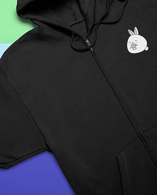 mockup-of-a-full-zip-hoodie-lying-over-c