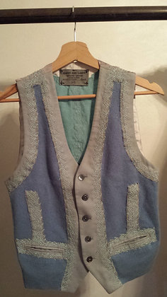 Gilet Sweater Light Blue Bicolor - Unique Piece
