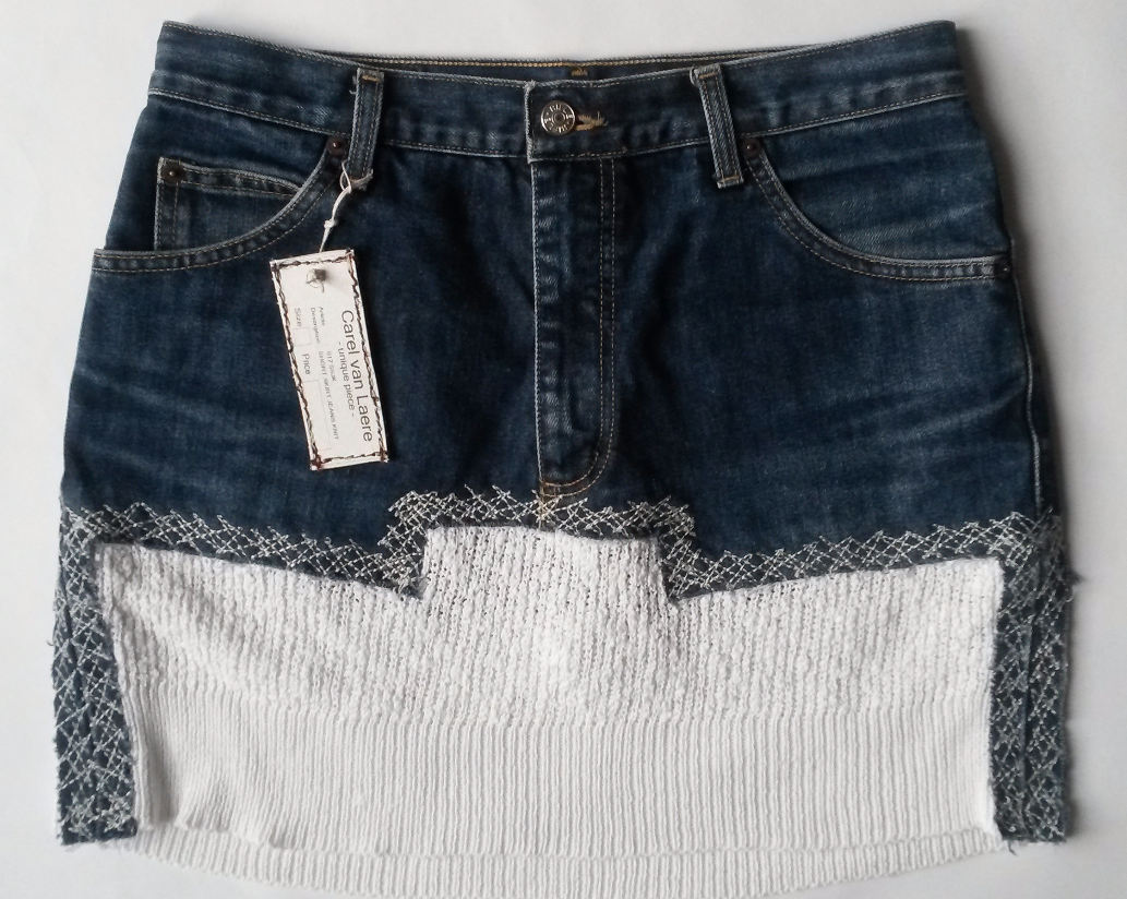 JEANS SKIRT KNIT 1